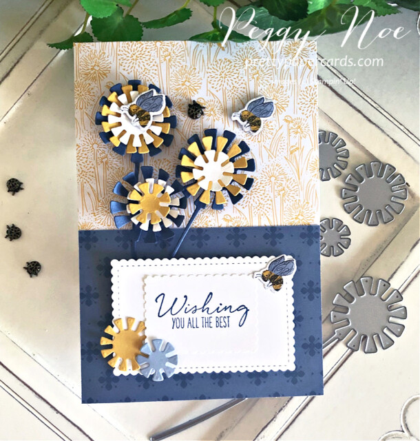 Handmade Dandelion Card using the Garden Wishes Bundle by Stampin' Up! designed by Peggy Noe prettypapercards.com #gardenwishes #dandygarden #peggynoe #prettypapercards #dandelioncard