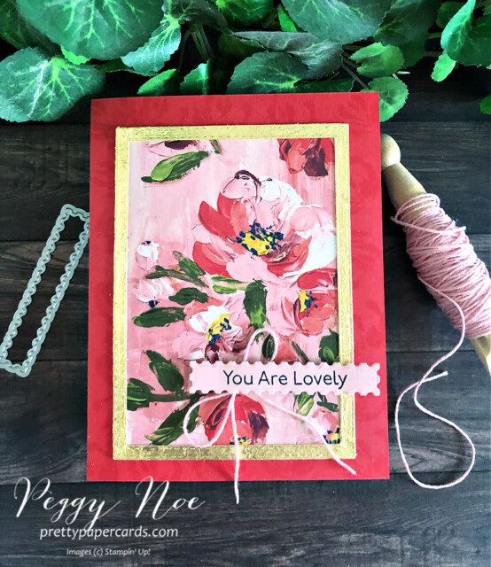 Handmade card created with the Fine Art Floral Suite by Stampin' Up! designed by Peggy Noe of prettypapercards.com #fineartfloral #peggynoe #prettypapercards #artgallerybundle