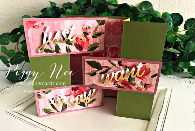 Handmade Fine Art Floral Stampin' Up! 3D Card by Peggy Noe of Pretty Paper Cards #fineartfloral #peggynoe #prettypapercards #3Dcard
