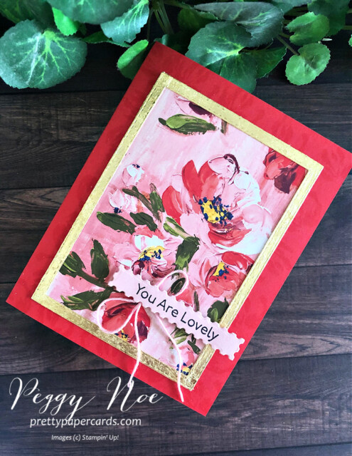 Handmade card created with Fine Art Floral Suite by Stampin' Up! designed by Peggy Noe of prettypapercards.com #fineartfloral #peggynoe #prettypapercards #fineartfloralsuite
