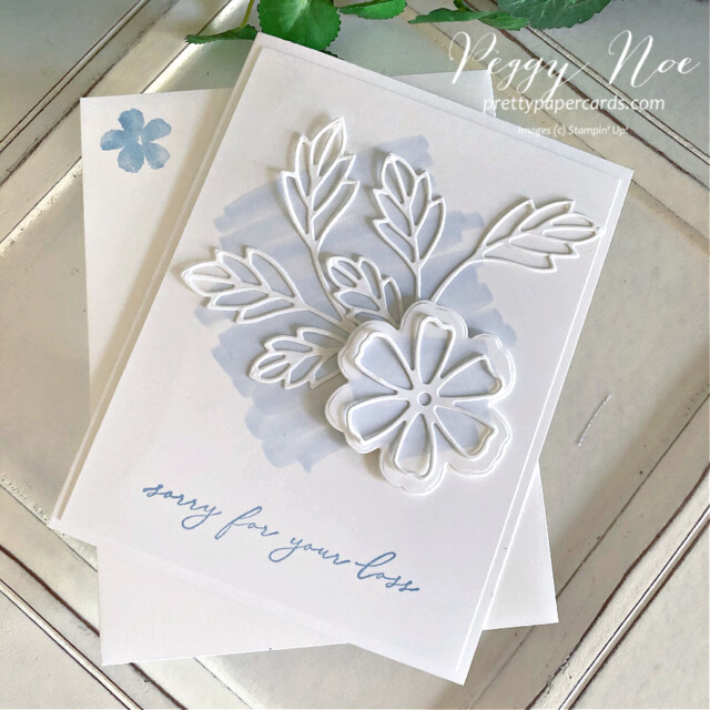 Handmade sympathy card made with the Pretty Perennial Samp Set by Stampin' Up! designed by Peggy Noe of Pretty Paper Cards #prettyperennials #sympathycard #peggynoe #prettypapercards
