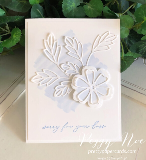 Handmade sympathy card made with the Pretty Perennial Stamp Set by Stampin' Up! designed by Peggy Noe of Pretty Paper Cards #prettyperennials #sympathycard #peggynoe #prettypapercards.com