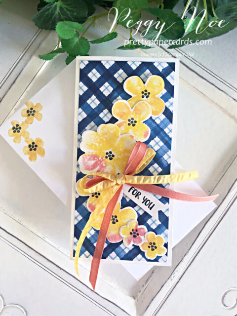 Handmade All Occasion card made with the Pretty Perennials Bundle Stampin' Up! designed by Peggy Noe of prettypapercards.com #prettyperennials #prettyperennialsbundle #handmadecard #peggynoe #prettypapercards #stampinup #stampingup #alloccasioncard
