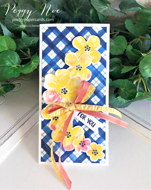 Handmade All Occasion card made with the Pretty Perennials Bundle by Stampin' Up! designed by Peggy Noe of prettypapercards.com #prettyperennials #prettyperennialsbundle #handmadecard #peggynoe #prettypapercards #stampinup