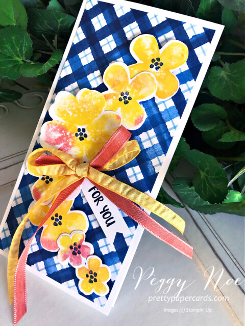 Handmade All Occasion card made with the Pretty Perennials Bundle by Stampin' Up! designed by Peggy Noe of prettypapercards.com #prettyperennials #prettyperennialsbundle #handmadecard #peggynoe #prettypapercards #stampinup #stampingup