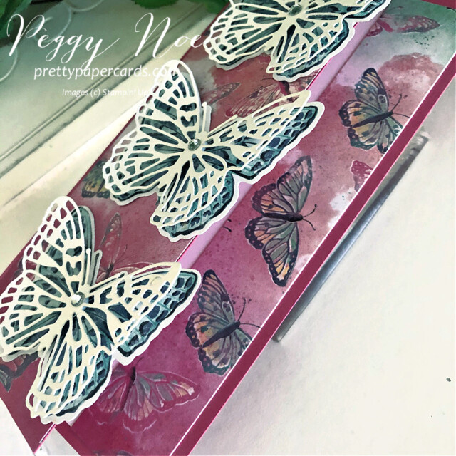 Handmade All Occasion Card using the Butterfly Brilliance Collection by Stampin' Up! and designed by Peggy Noe of Pretty Paper Cards #butterflybrilliance #butterflies #butterflybijou #peggynoe #prettyppapercards #prettypapercards.com