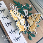 Handmade Card using Butterfly Brilliance and Touch of Ink stamp sets by Stampin