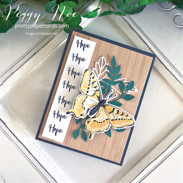 Handmade Card using Butterfly Brilliance and Touch of Ink stamp sets by Stampin' Up! created by Peggy Noe of Pretty Paper Cards #touchofink #butterflybrilliance #stampinup #peggynoe