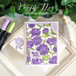 Handmade Thank You Card made with the Peony Garden Paper by Stampin