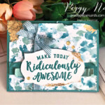 Handmade birthday card using the Ridiculously Awesome Stamp Set and Butterfly Bijou Paper by Stampin
