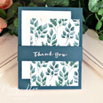 Handmade thank you card using the Sweet Strawberry stamp set by Stampin