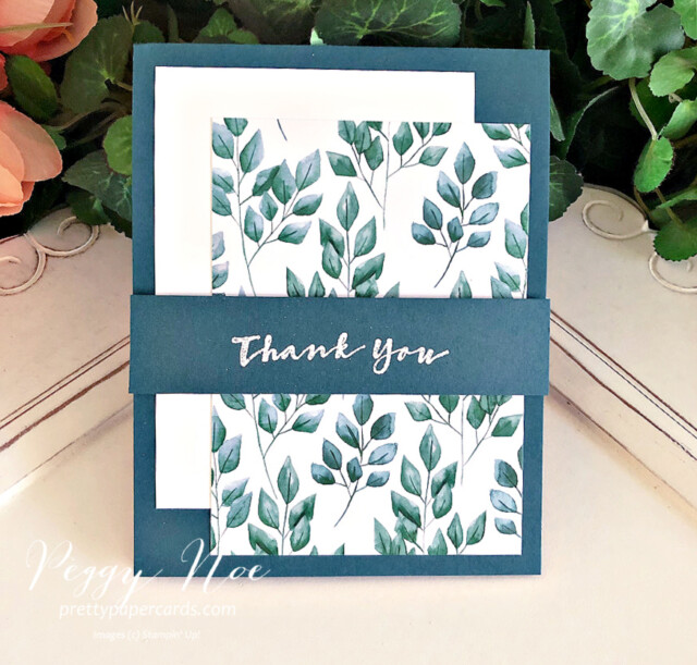 Handmade thank you card using the Sweet Strawberry stamp set by Stampin' Up! created by Peggy Noe of prettypapercards.com #thankyou #thankyoucard #stampinup #stampingup #sweetstrawberry #peggynoe #prettypapercards