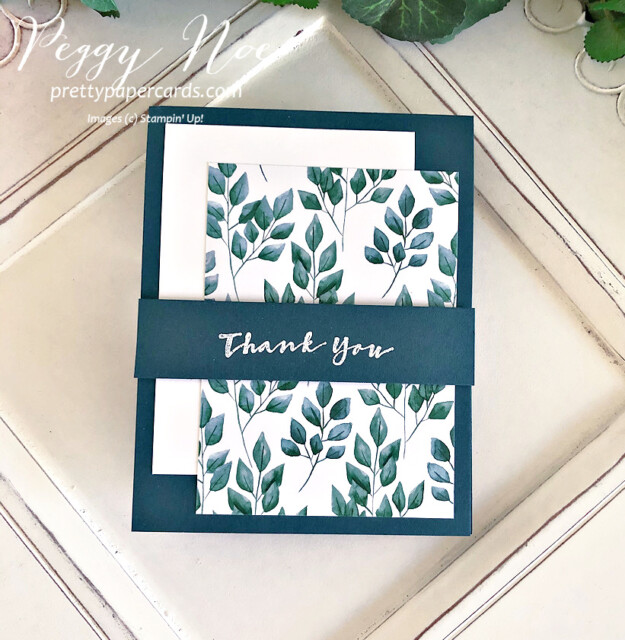 Handmade thank you card using the Sweet Strawberry stamp set by Stampin' Up! created by Peggy Noe of prettypapercards.com #thanks #thankyou #thankyoucard #stampinup #sweetstrawberry #peggynoe #prettypapercards