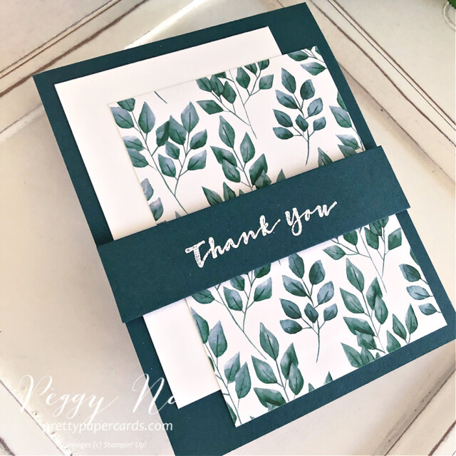 Handmade thank you card using the Sweet Strawberry stamp set by Stampin' Up! created by Peggy Noe of prettypapercards.com #thanks #thankyou #thankyoucard #stampinup #sweetstrawberry #peggynoe