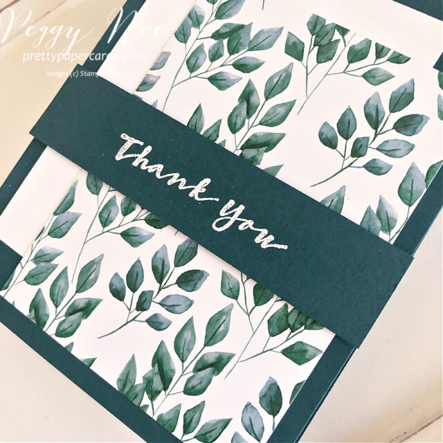 Handmade thank you card using the Sweet Strawberry stamp set by Stampin' Up! created by Peggy Noe of prettypapercards.com #thankyou #thankyoucard #stampinup #sweetstrawberry #peggynoe #prettypapercards