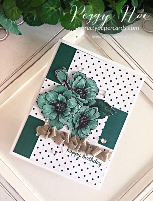 Handmade birthday card using True Love Designer Series Paper by Stampin' Up! by Peggy Noe prettypapercards.com #truelovedsp #birthdaycard #stampinup #peggynoe #prettypapercards