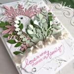 Handmade card Love Makes Us Family Card using Stampin