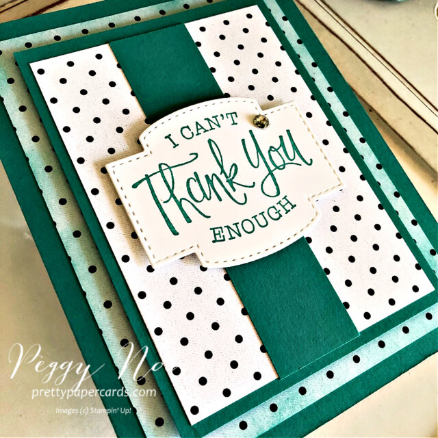 Handmade thank you card and mini curvy keepsake box using True Love designer paper and So Sentimental stamp set by Stampin' Up! created by Peggy Noe of Pretty Paper Cards #truelovedsp #thankyoucard #sosentimentalstampset #peggynoe #prettypapercards #minicurvykeepsakebox #stampinup