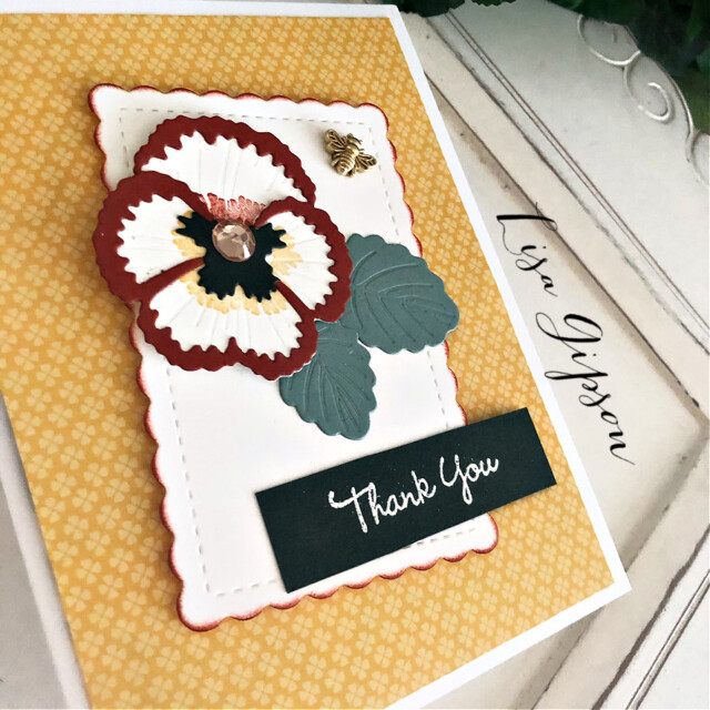 Handmade Thank You Card Using the Pansy Patch Bundle by Stampin' Up! Pretty Paper Cards #pansypatchbundle #pansypatch#thankyoucard #thankyou #stampinup #stampingup #prettypapercards #pansies
