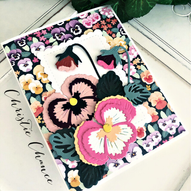 Handmade Thank You Card Using the Pansy Patch Bundle by Stampin' Up! Pretty Paper Cards #pansypatchbundle #pansypatch #pansycard #thankyoucard #thankyou #stampinup #stampingup #prettypapercards #pansies
