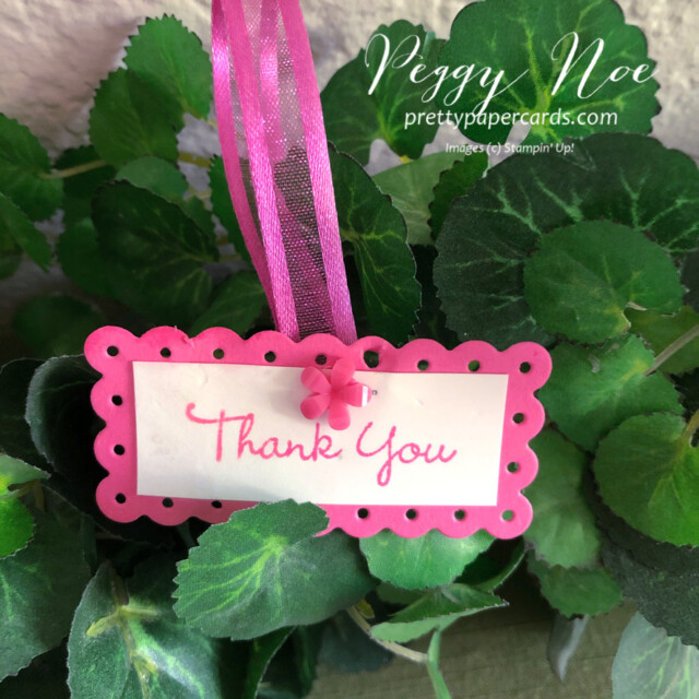 Stampin' Up! 2021-2023 In Colors Peggy Noe prettypapercards #2021-2023InColors #stampinup #stampingup #peggynoe #prettypapercards #freshfreesia #polishedpink #tags #foryoucard #thankyoutags #thankyou #polishedpink