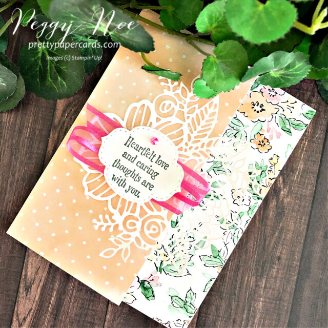 Handmade Card using the Quiet Meadow Stamp Set by Stampin' Up! created by Peggy Noe of prettypapercards.com #quietmeadow #artisticdies #handpenneddsp #stampinup #stampingup #peggynoe #prettypapercards