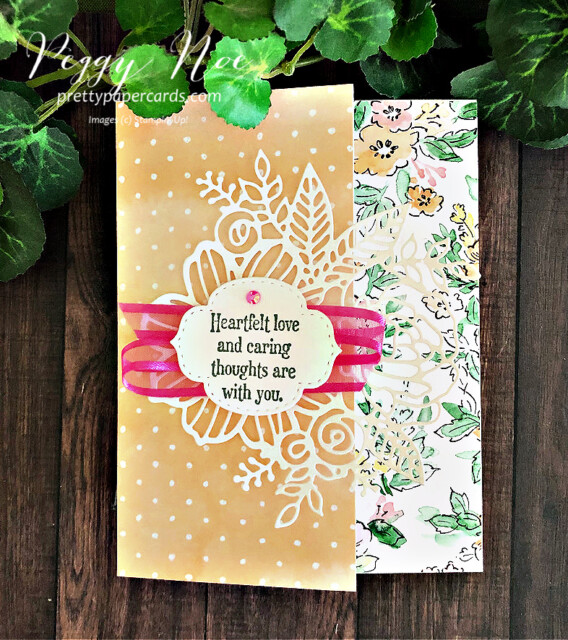 Handmade Card using the Quiet Meadow Stamp Set by Stampin' Up! created by Peggy Noe of prettypapercards.com #quietmeadow #artisticdies #handpenneddsp #stampinup #stampingup #peggynoe #prettypapercards #heartfeltlove