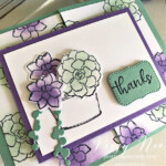 Handmade Thank You Gatefold Card using the Simply Succulents Stamp Set by Stampin