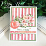 Handmade Thank You Card created with the Sweet as a Peach Bundle by Stampin
