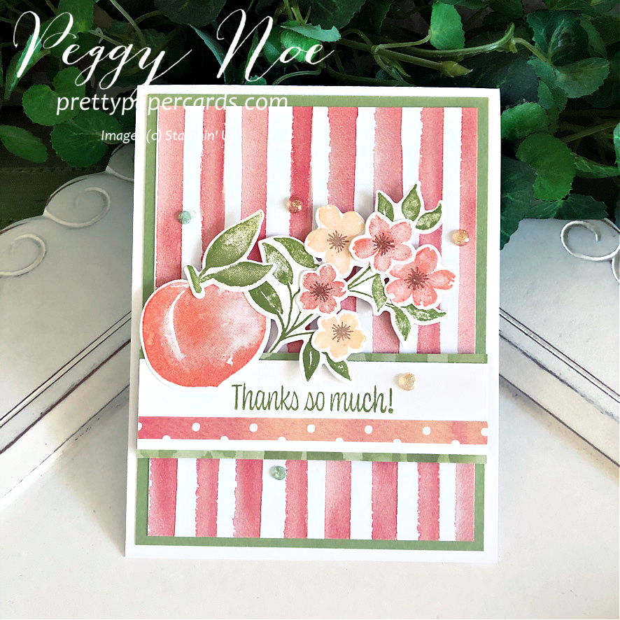 NEW VIDEO: New Sweet as a Peach Thank You Card!