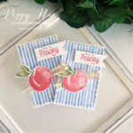 Handmade tag using the Sweet as a Peach Stamp Set by Stampin