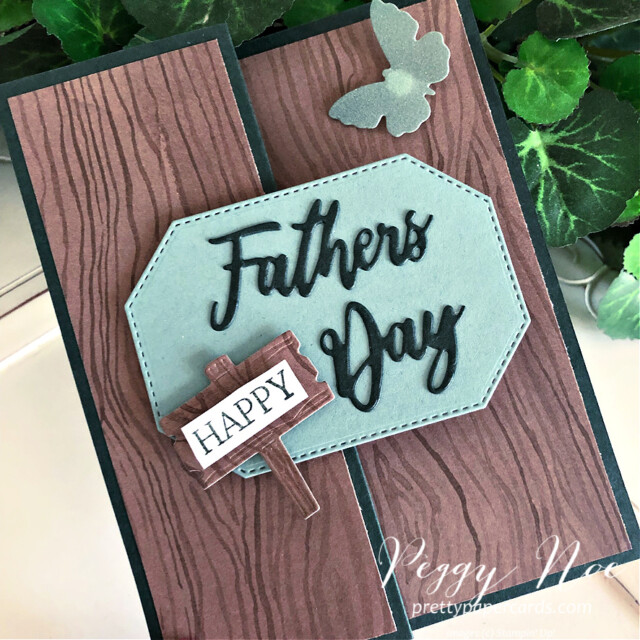 Handmade Father's Day Card and Gift Bag created with the Word Wishes Dies by Stampin' Up! created by Peggy Noe of Pretty Paper Cards #wordwishesdies #father'sday #father'sdaycard #stampin'up! #stampingup #stampinup #peggynoe #prettypapercards #thebeautyoftheearth #beautyoftheearthdsp #dad'sdaycard