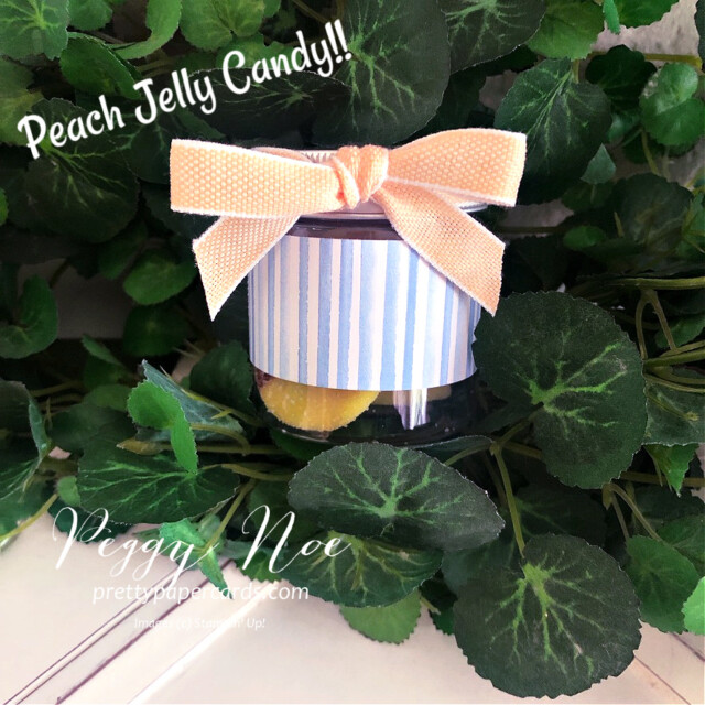 Handmade Happy Birthday Gift Bag made with Stampin' Up! You're a Peach Paper created by Peggy Noe of Pretty Paper Cards #peggynoe #prettypapercards #prettypapercards.com #giftbag #papergiftbag #handmadegiftbag #you'reapeach #you'reapeachdesignerseriespaper #you'reapeachdsp #encircledinbeautydies #sweetasapeachbundle #sweetasapeachstampset #birthdaybag #minijars