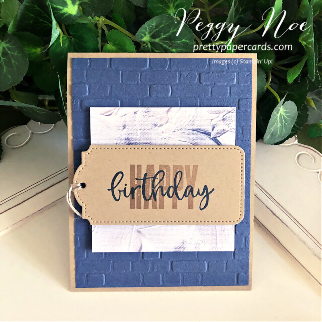Handmade birthday card made with the Biggest Wish Stamp Set by Stampin' Up! created by Peggy Noe of Pretty Paper Cards #peggynoe #prettypapercards #prettypapercards.com #stampinup #stampingup #biggestwish #biggestwishstampset #tailormadetags #tags #stitchedtags #birthday #birthdaycard #handmadebirthdaycard #guybirthdaycard #guyscard