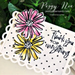 Handmade thank you mini card made with the Color & Contour Bundle by Stampin