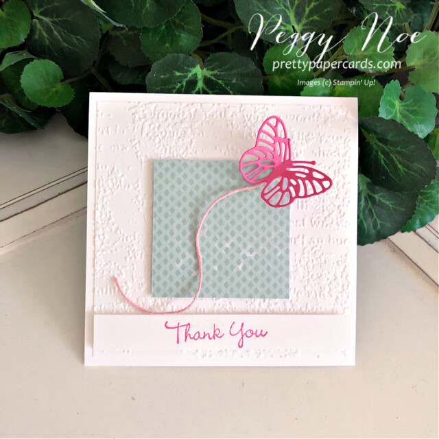 Pansy Patch Butterfly Stampin' Up! Peggy Noe #FMS492 #peggynoe #prettypapercards #stampinup #stampingup #pansypatch #pansypatchstampset #polishedpink #brilliantwingsdies #butterflies #pinkbutterflycard