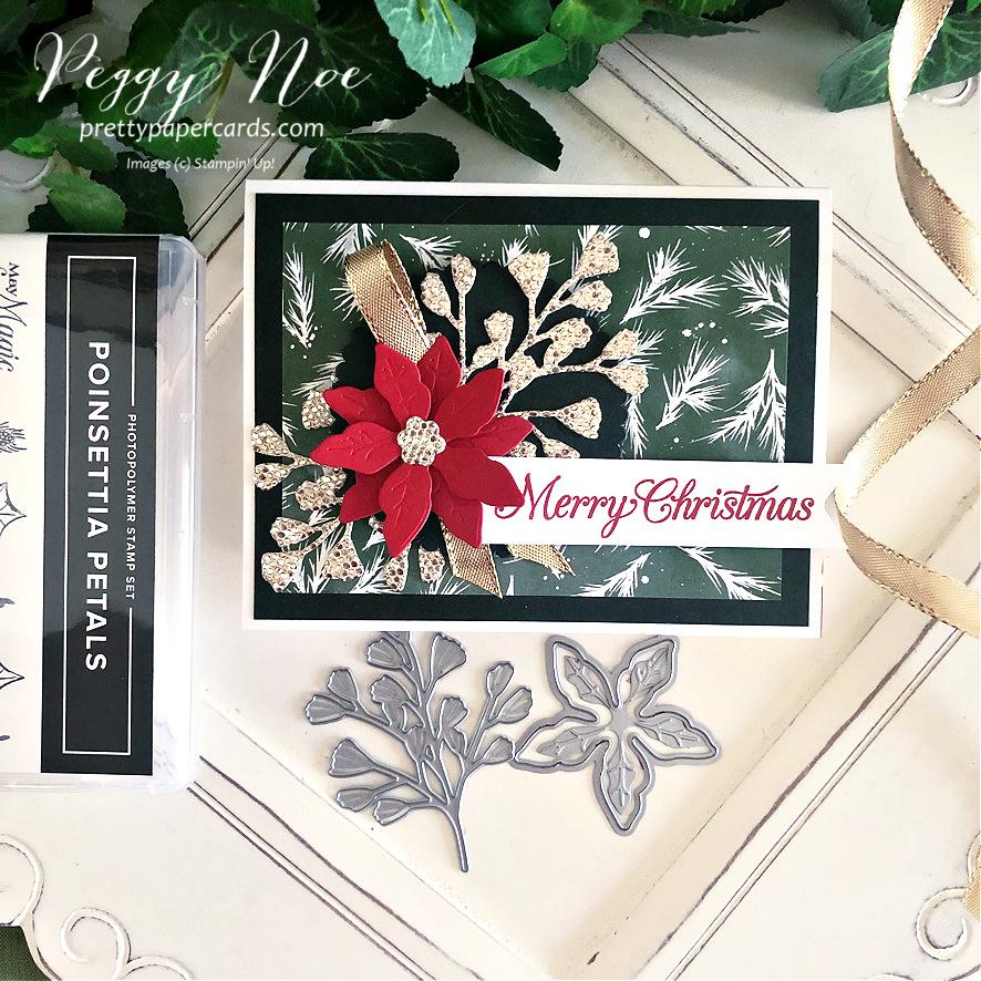 VIDEO: Sparkly Poinsettia Christmas Card!
