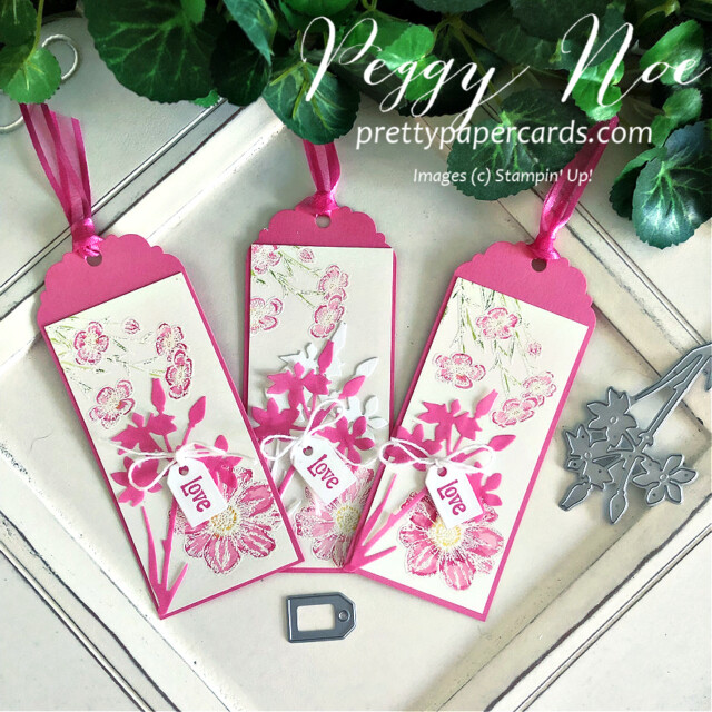 Handmade tag/bookmark created with Quiet Meadow Bundle by Stampin' Up! created by Peggy Noe of Pretty Paper Cards #stampinup #stampingup #peggynoe #prettypapercards #prettypapercards.com #quietmeadow #quietmeadowstampset #qiietmeadowbundle #tags #bookmark #quietmeadowtag #quietmeadowbookmark
