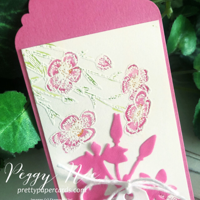 Handmade tag/bookmark created with Quiet Meadow Bundle by Stampin' Up! created by Peggy Noe of Pretty Paper Cards #stampinup #stampingup #peggynoe #prettypapercards #prettypapercards.com #quietmeadow #quietmeadowstampset #qiietmeadowbundle #tags #bookmark #quietmeadowtag #bookmark/tag