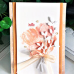 Handmade Hello card created with the Sweet as a Peach stamp set by Stampin