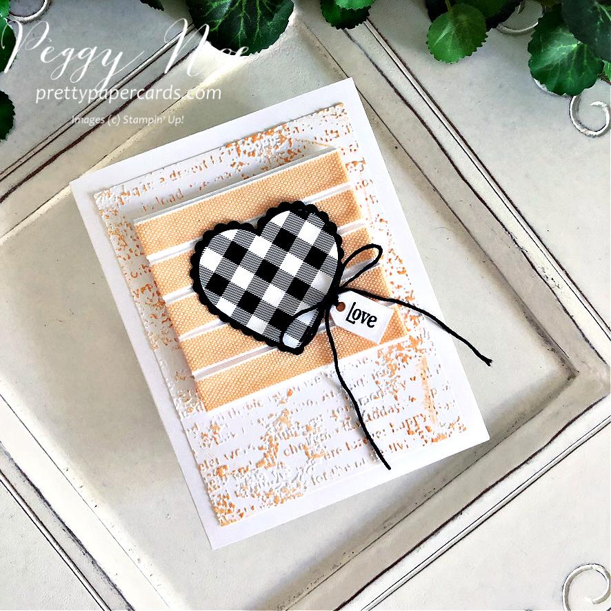 Checkered Heart Love Card! (GDP#304)
