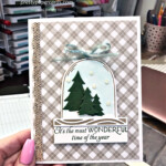 Christmas card made with the Classic Cloche Bundle by Stampin
