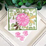 Handmade Thank You Card made with the Delicate Dahlia stamp set by Stampin