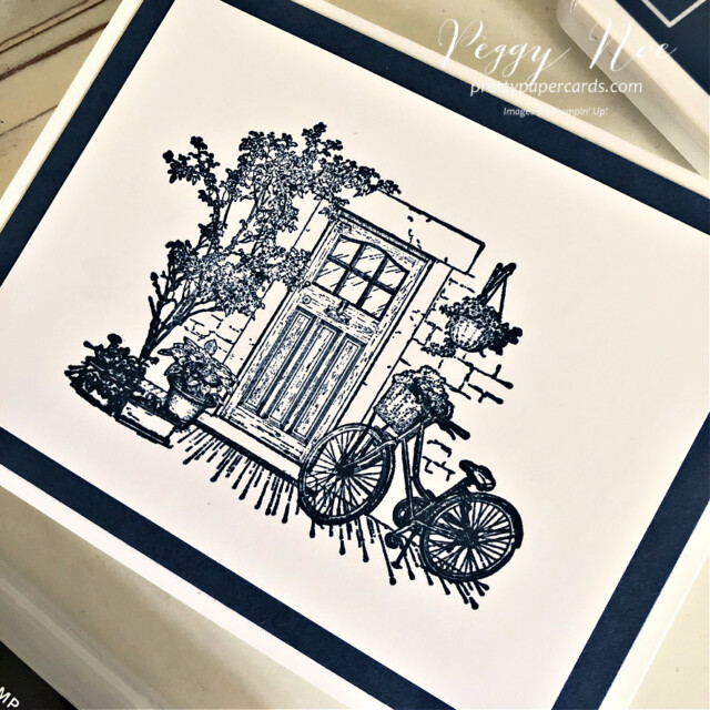 Handmade thank you card using the Feels Like Home Stamp Set by Stampin' Up! created by Peggy Noe of Pretty Paper Cards #feelslikehome #feelslikehomestampset #thankyou #thanlyoucard #stampinup #stampingup #peggynoe #prettypapercards #mistymoonlightink