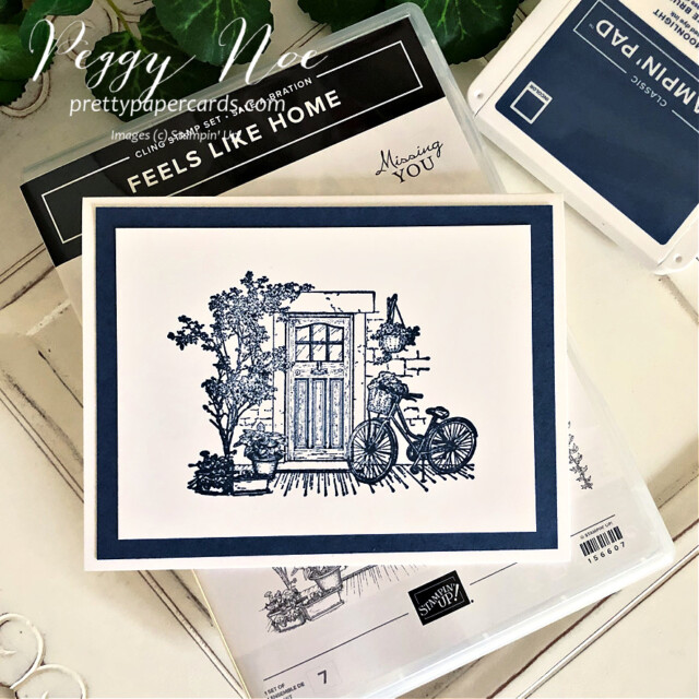 Handmade thank you card using the Feels Like Home Stamp Set by Stampin' Up! created by Peggy Noe of Pretty Paper Cards #feelslikehome #feelslikehomestampset #thankyou #thanlyoucard #stampinup #stampingup #peggynoe #prettypapercards #mistymoonlight