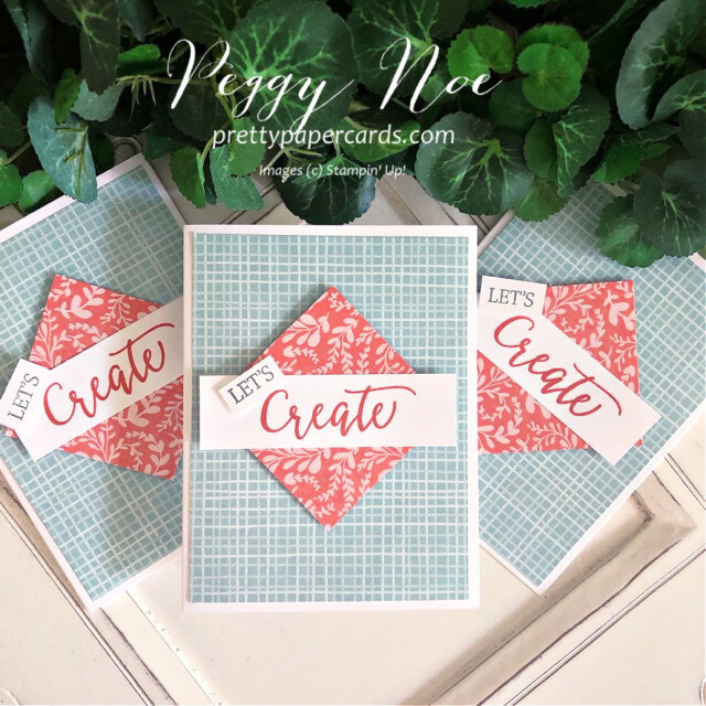 Handmade card using the Create With Friends stamp set by Stampin' Up! created by Peggy Noe of Pretty Paper Cards #let'screatecard #createwithfriends #stampin'up #stampinup #stampingup #peggynoe #prettypapercards