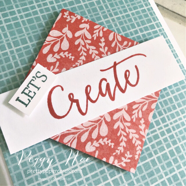 Handmade card using the Create With Friends stamp set by Stampin' Up! created by Peggy Noe of Pretty Paper Cards #let'screatecard #createwithfriends #stampin'up #stampinup #stampingup #peggynoe #prettypapercards #let'screatecard #sweetstockingsdsp