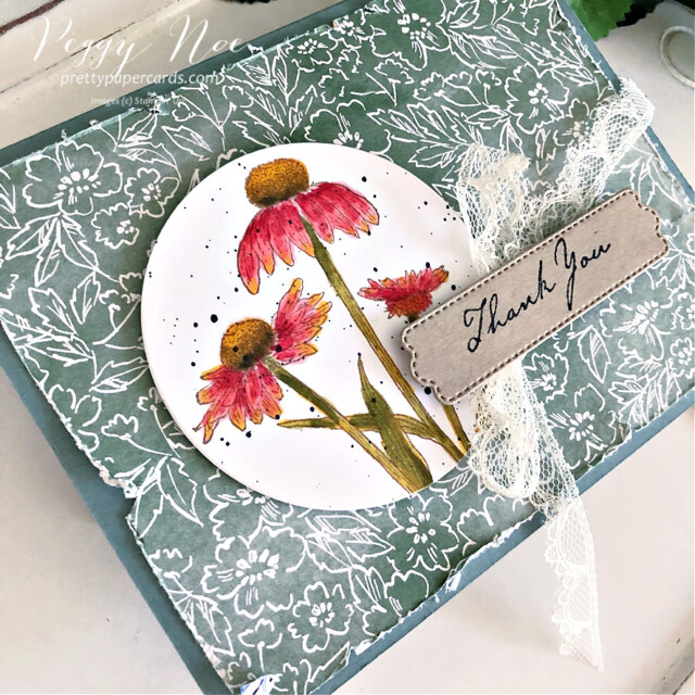 Handmade Fall Card made with the Nature's Harvest stamp set by Stampin' Up! created by Peggy Noe of Pretty Paper Cards #coneflower #coneflowercard #nature'sHarvest #nature'sharveststampset #fallcard #stampinup #stampingup #peggynoe #prettypapercards #coneflowera