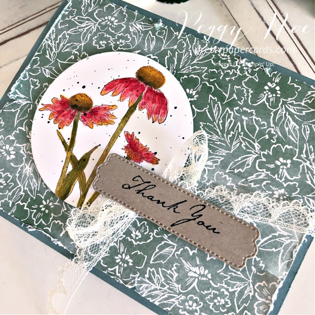 Handmade Fall Card made with the Nature's Harvest stamp set by Stampin' Up! created by Peggy Noe of Pretty Paper Cards #coneflower #coneflowercard #nature'sHarvest #nature'sharveststampset #fallcard #stampinup #stampingup #peggynoe #prettypapercards #prettypapercards.com