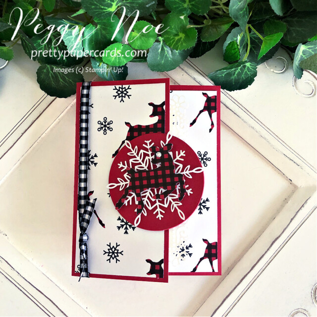 Peaceful Deer Stampin' Up! Peggy Noe #christmascard #reindeercard #peacefuldeer #peacefuldeerbundle #peacefulprints #peacefulprintsdsp #peacefulprintspaper #reindeercard